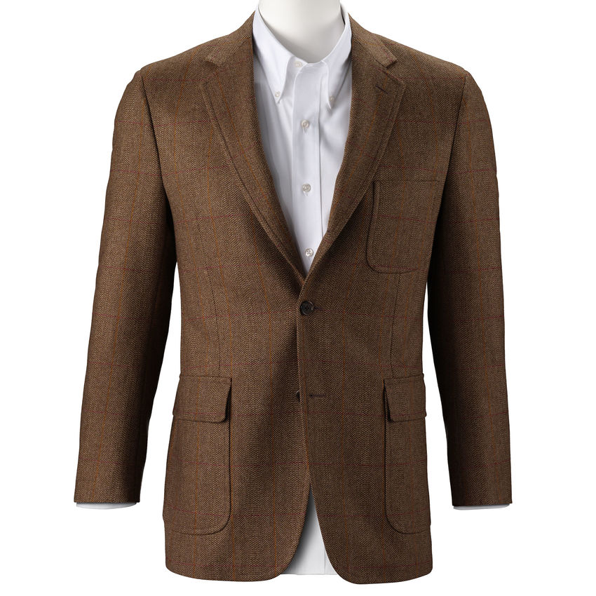 southwick_sport-coat_scottish-herringbone_AE2043_tan_front