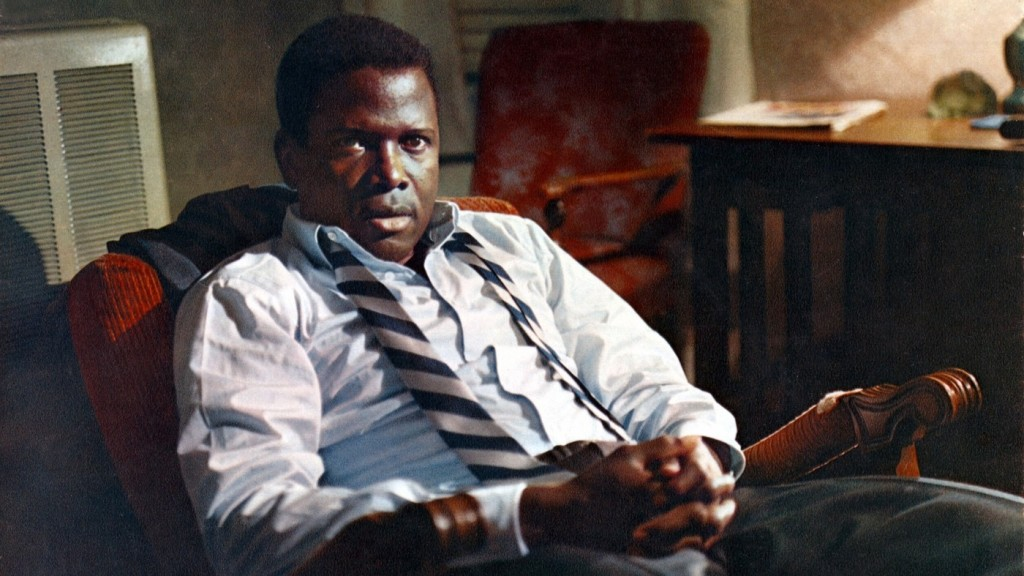 Sidney Poitier smolders — and swelters — in In the Heat of the Night</