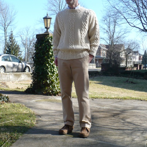 Wallabees-and-Sweater