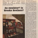 Going Down: Brooks, Escalators, and Marks & Spencer