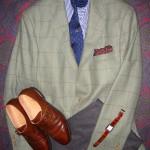 Green Is Good: Norman Hilton Lovat Windowpane Sportcoat