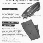 Buckle-Back Flannels and Cordovan Loafers, 1954