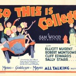 So This Is College, 1929