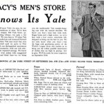 Macy's Knows Its Yale, 1941