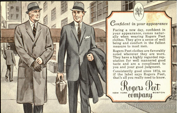 Rogers Peet Company, 104 Tremont St. at Bromfield Boston 8
