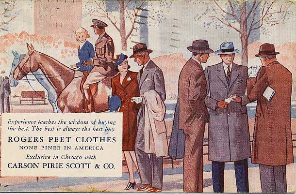 postcard-chicago-carson-pirie-scott-and-company-rogers-peet-clothes-1940s