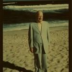 Bathing Suit: Joseph Haspel Goes Swimming In Seersucker, 1946