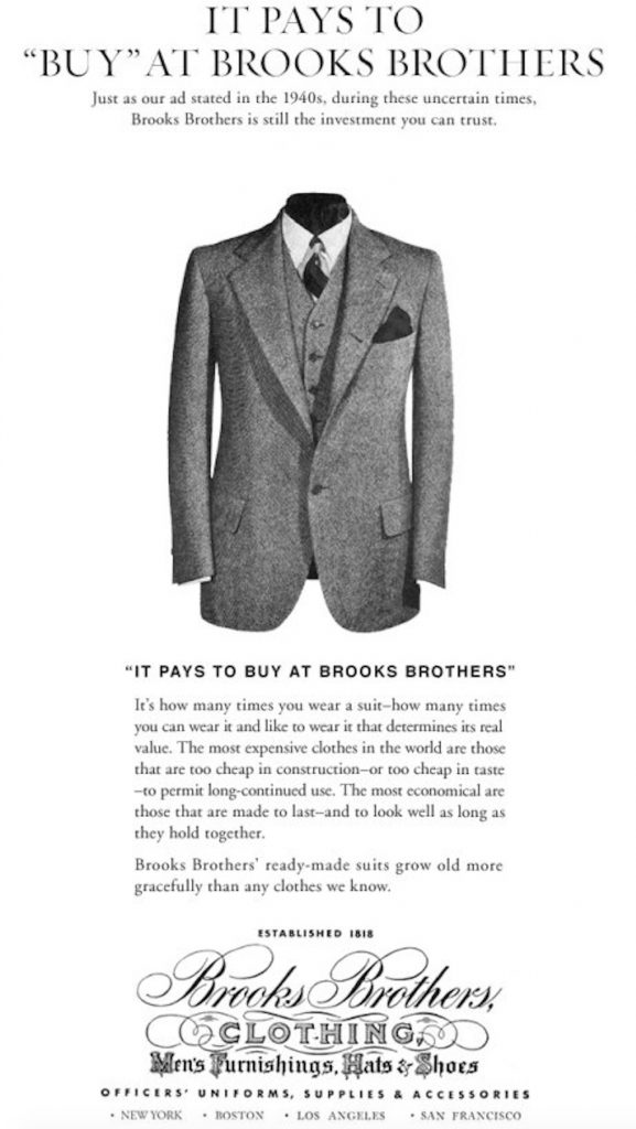 best wholesaler reputable site authorized site Back In The Day: The Inner Sanctum Of Brooks Brothers